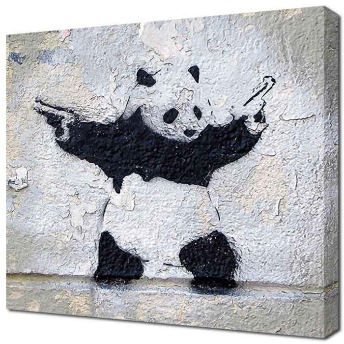 Popular Banksy Canvas Panda Wall With Regard To Banksy Canvas Wall Art (View 2 of 15)