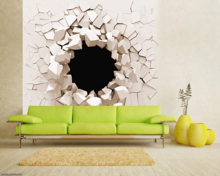 Popular Bedroom 3D Wall Art Throughout Bedroom Wall Art Designs Fresh 20 3D Wall Art Designs Decor Ideas (View 6 of 15)