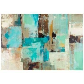 Popular Blue And Brown Abstract Wall Art Inside Get Blue, Brown & White Tone Abstract Canvas Art Online Or Find (View 9 of 15)