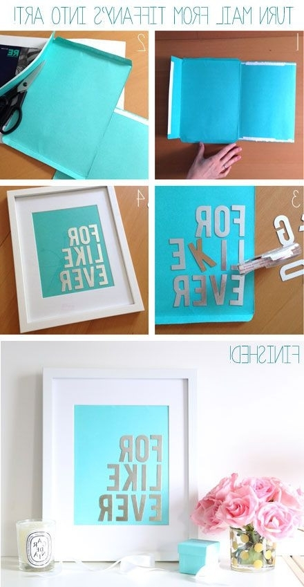 Popular Budget Diy Make Chic Wall Art With Your Tiffany Co Mailer Junk With Tiffany And Co Wall Art (View 6 of 15)
