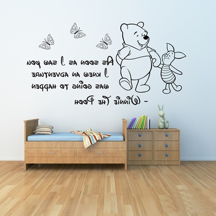Popular Butterfly Wall Art Quotes For Children Room With Wood Flooring In Wall Art Stickers For Childrens Rooms (View 12 of 15)