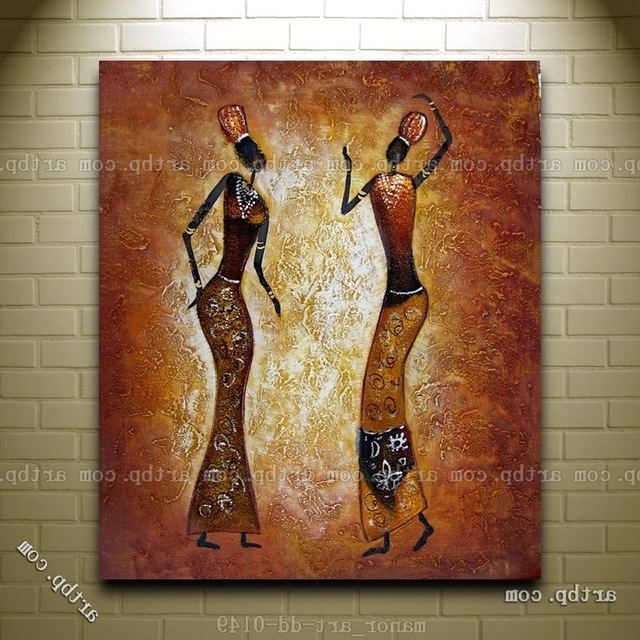 Popular Canvas Wall Art Abstract Africa Oil Painting Modern Decor Hand Pertaining To Abstract African Wall Art (View 12 of 15)
