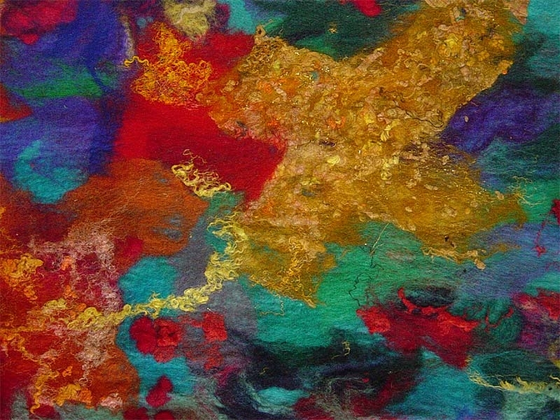 Popular Celebration' (Detail) – Contemporary Abstract Textile Art Wall With Regard To Abstract Fabric Wall Art (View 10 of 15)