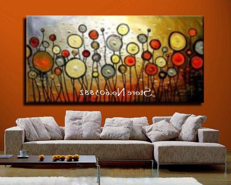 Popular Cheap Abstract Wall Art For Wall Art Designs Discount Wall Art Floral Painting Large Canvas (View 7 of 15)
