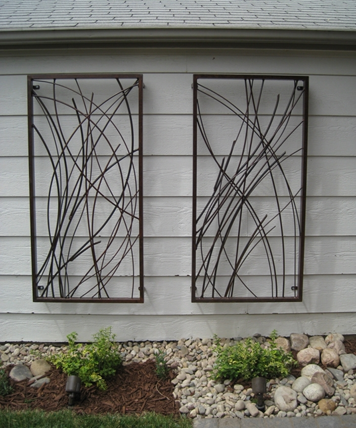 Popular Contemporary Outdoor Wall Art Regarding Best Designs For Outdoor Wall Art Custom Outdoor Wall Art Design (View 7 of 15)
