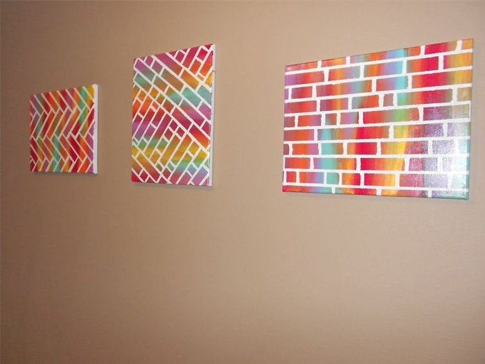 Popular Diy Pinterest Canvas Art With Easy Diy Painted Bricks Canvas Art – Home Art Decor (View 11 of 15)