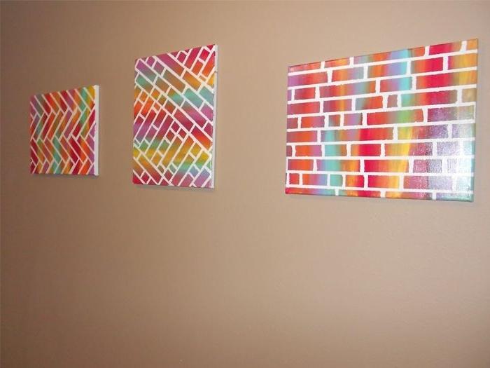 Popular Diy Pinterest Canvas Art With Easy Diy Painted Bricks Canvas Art – Home Art Decor (View 14 of 15)