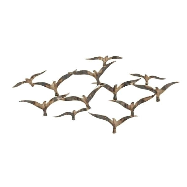 Popular Flock Of Birds Metal Wall Art Urban Designs Flying Flock Of Birds In Flying Birds Metal Wall Art (View 10 of 15)