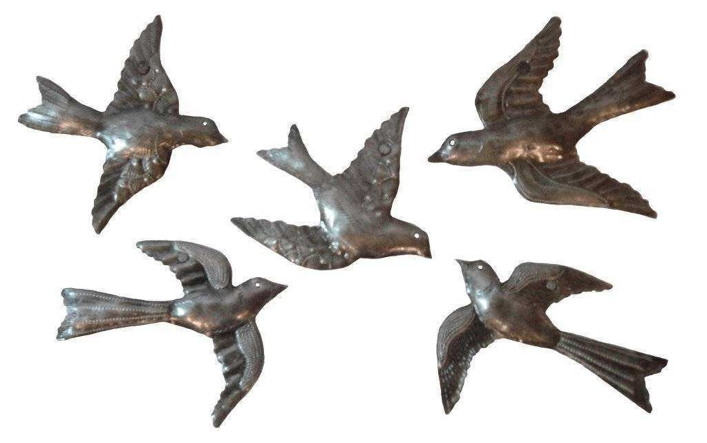 Popular Flock Of Birds Wall Art Regarding Metal Wall Art Birds In Flight Elegant Haitian Metal Wall Art (View 11 of 15)