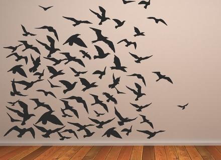 Popular Flock Of Birds Wall Art Within 40 Bird Wall Art, Wall Art Ideas Design : Dimension Sculpture Flock (View 3 of 15)