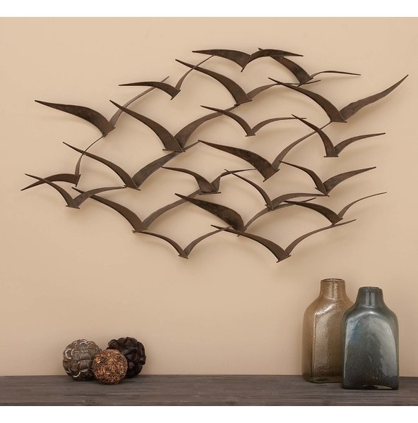 Popular Flying V Birds Metal Wall Art Decoration – Almosthomebb Within Birds In Flight Metal Wall Art (View 10 of 15)