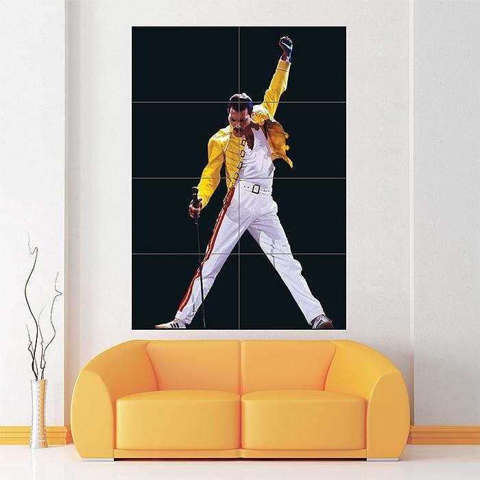 Popular Freddie Mercury Wall Art Freddie Mercury Block Giant Wall Art Poster With Regard To Freddie Mercury Wall Art (View 6 of 15)