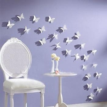 Popular Gossip Girl 3D Wall Decal For Butterflies Wall Art Stickers (View 15 of 15)
