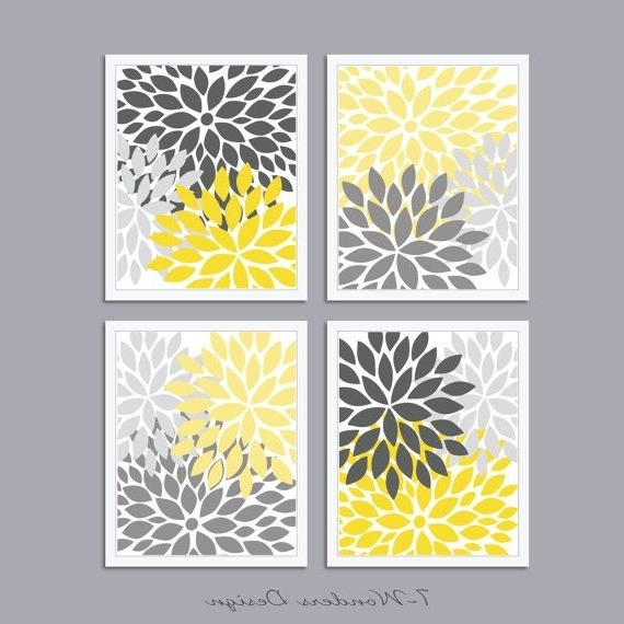 Popular Gray And Yellow Wall Art With Regard To Custom 30 Yellow And Gray Wall Art Design Inspiration Of, Grey Wall (View 11 of 15)