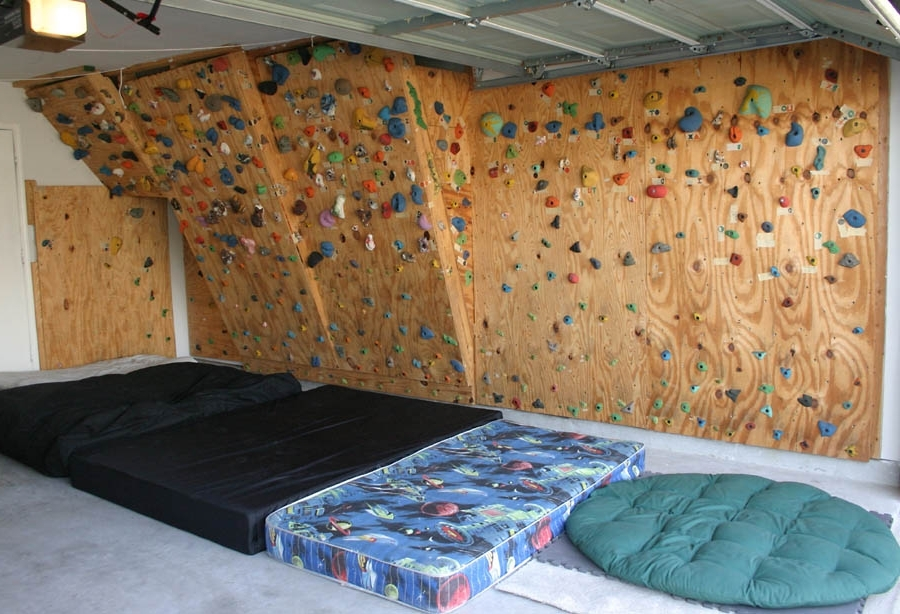 Popular Home Bouldering Wall Design Throughout The Hahn's Homebuilt Climbing Wall (In Our Garage) (View 10 of 15)