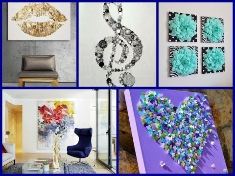 Popular Homemade Wall Art For Easy Diy Room Decor – 20 Simple Wall Art Ideas! – Youtube (View 15 of 15)