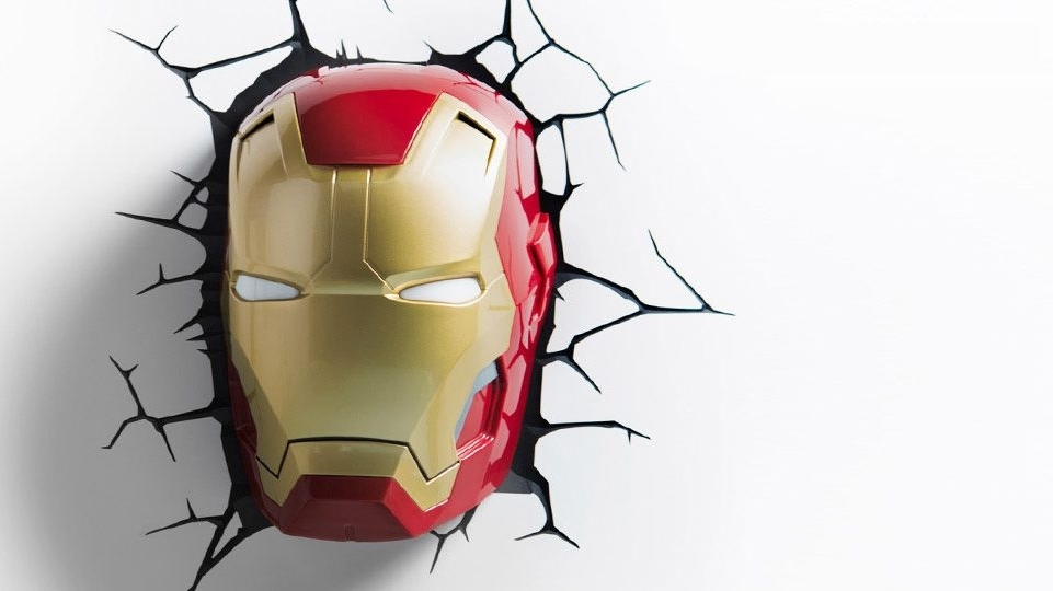 Popular Iron Man 3 Mask 3D Deco/night Light (View 4 of 15)