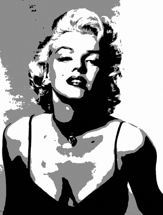 Popular Marilyn Monroe Black And White Wall Art For Sexy Marilyn Monroe Printed Oil Painting On Canvas Wall Art Black (View 5 of 15)