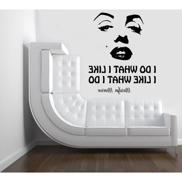 Popular Marilyn Monroe Wall Art Throughout Shop Marilyn Monroe Quote Sticker Vinyl Wall Art – Free Shipping On (View 14 of 15)