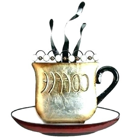 Popular Metal Coffee Cup Wall Art With Coffee Cup Wall Decor Creative Ideas Designing Home Awesome Kitchen (View 14 of 15)