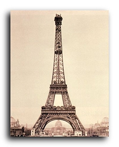 Popular Metal Eiffel Tower Wall Art Intended For Amazon: Vintage Paris Eiffel Tower Picture Wall Decor Art Print (View 12 of 15)
