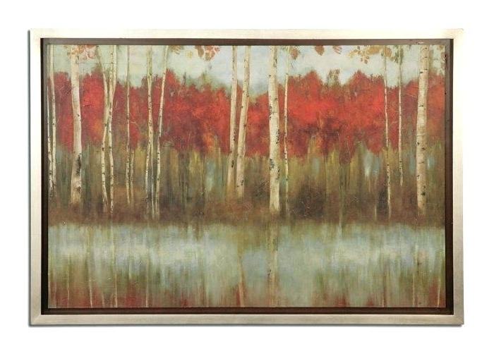 Popular Metal Framed Wall Art Pertaining To Framed Metal Art Awesome Large Outdoor Wall Art Metal Metal Birch (View 10 of 15)