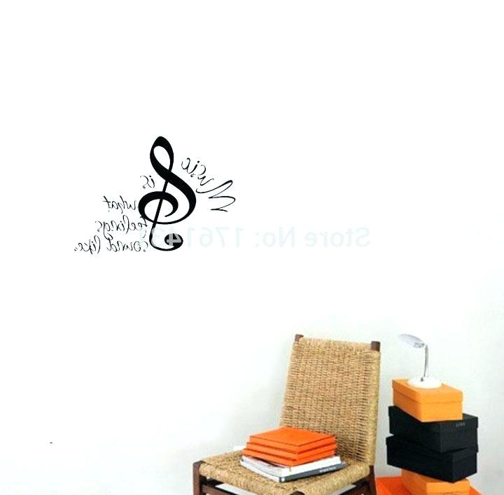 Popular Music Note Wall Art Music Notes Wall Decorations Music Note Wall Art Pertaining To Music Note Wall Art Decor (View 9 of 15)
