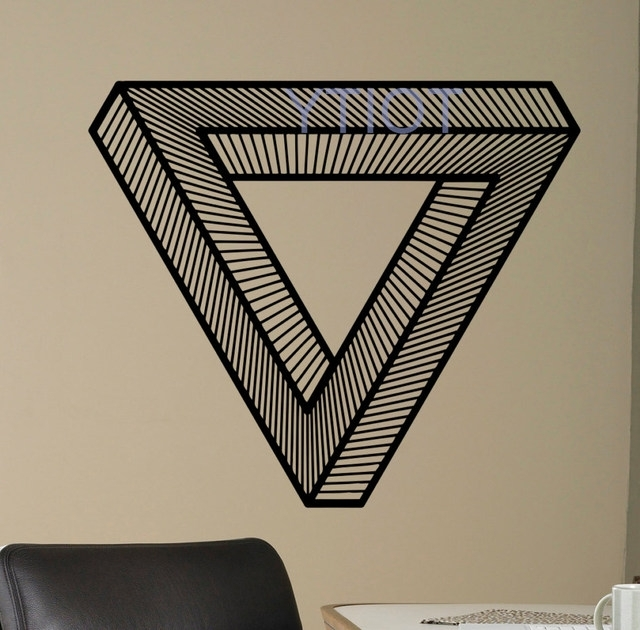 Popular Optical Illusion Wall Art For Online Shop Optical Illusion Wall Vinyl Decal Impossible Sticker (View 14 of 15)