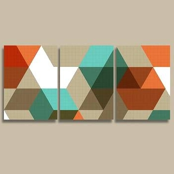 Popular Orange And Turquoise Wall Art Within Orange And Turquoise Wall Art Shop Turquoise Office Decor On (View 11 of 15)
