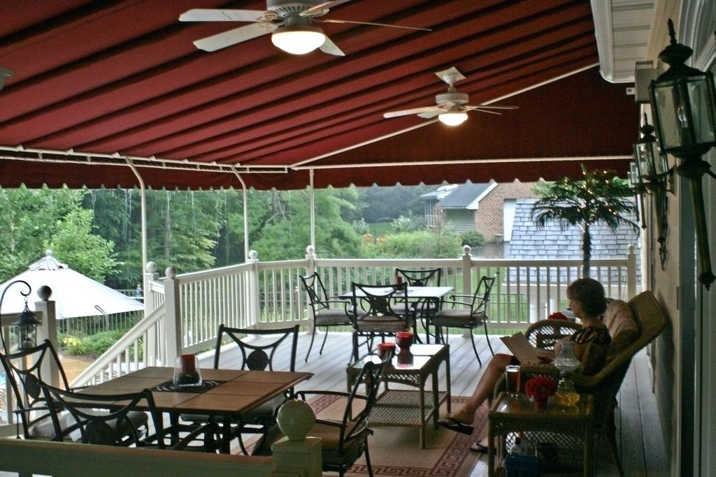Popular Outdoor Ceiling Fans For Canopy Intended For Deck Shade Cover Deck Canopy Ideas Awning Ideas Extraordinary Door (View 15 of 15)