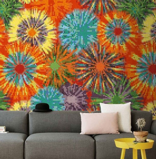 Popular Outdoor Mosaic Tile / Indoor / Wall / Ceramic – Colore : Flash – Pixel Regarding Pixel Mosaic Wall Art (View 11 of 15)