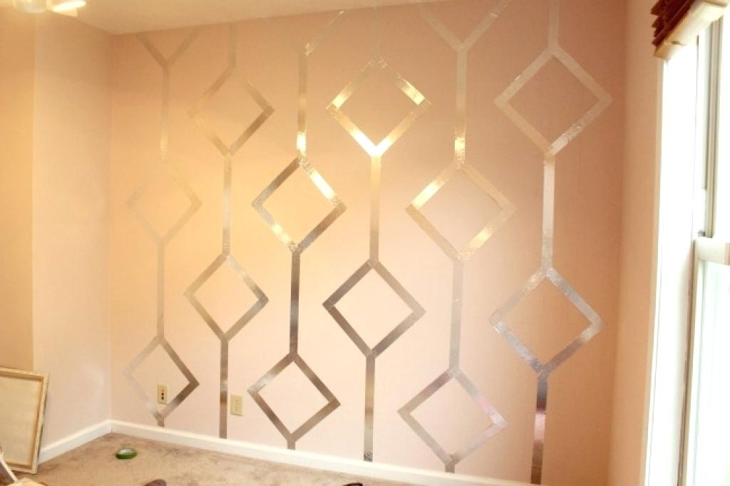 Popular Paint Design Ideas Best Designs With Tape Glamorous Wall 9 Charming Throughout Glamorous Wall Art (View 10 of 15)