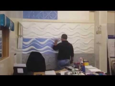Popular Painting 3D Wall Panels Pertaining To Painting Our New 3D Panels – Youtube (View 14 of 15)