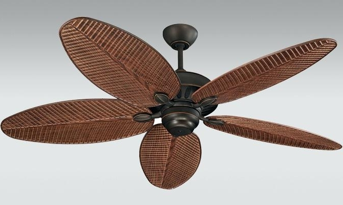 Popular Palm Leaf Ceiling Fan Blades Harbor Breeze With Brilliant Fans For Leaf Blades Outdoor Ceiling Fans (View 9 of 15)