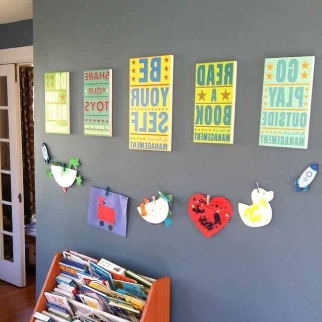 Popular Playroom Wall Art Regarding 41 Playroom Wall Art, Born Imaginative: Playroom Wall Art (View 12 of 15)