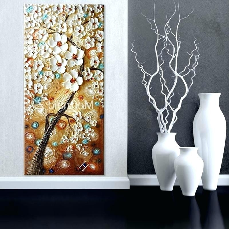 Popular Rectangular Wall Art Long Wall Art Handmade Abstract Wall Art Pertaining To Long Abstract Wall Art (View 9 of 15)