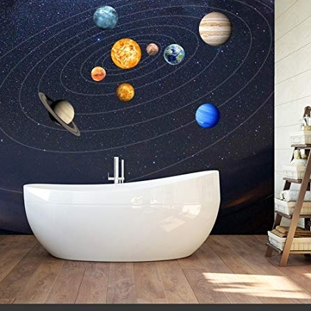 Popular Solar System Wall Art With Cheerfulus Glow In The Dark Planet Wall Stickers 9 Planets Solar (View 5 of 15)
