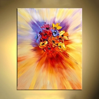 Popular Texture Modern Abstract Flower Wall Art Acrylic Canvas Oil Painting Pertaining To Abstract Flower Wall Art (View 7 of 15)