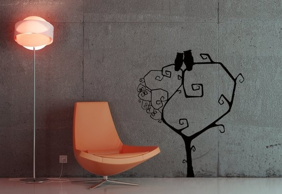 Popular Tree Wall Decal Halloween Decorations Tim Burton (View 7 of 15)