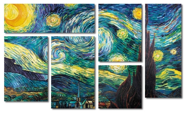 Popular Vincent Van Gogh Wall Art For Starry Night' Multi Panel Canvas Art Setvincent Van Gogh (View 9 of 15)