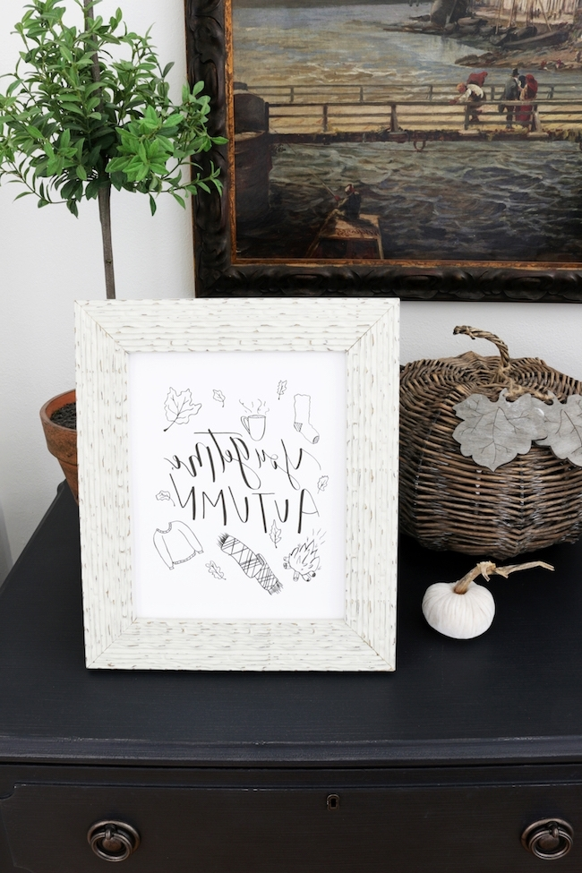 Popular Welcome To Fall Nesting + A Free Printable Fall Print – The Inspired Intended For Autumn Inspired Wall Art (View 6 of 15)