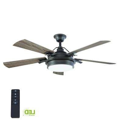 Popular Wet Rated – Ceiling Fans – Lighting – The Home Depot With Outdoor Ceiling Fan With Brake (View 9 of 15)