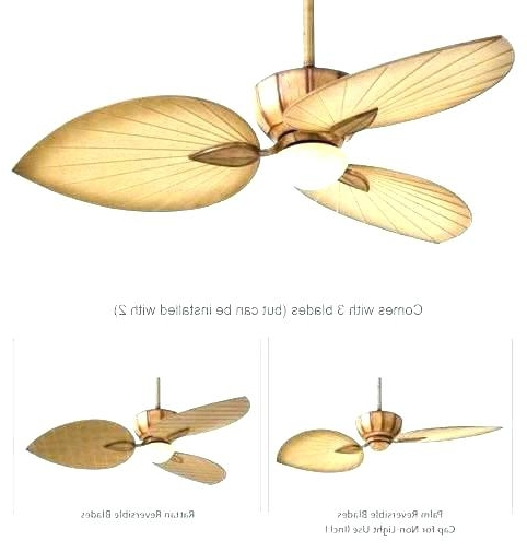 Popular Wicker Outdoor Ceiling Fans Intended For Tropical Outdoor Ceiling Fan Rattan Fans With Lights Beige Wicker (View 15 of 15)