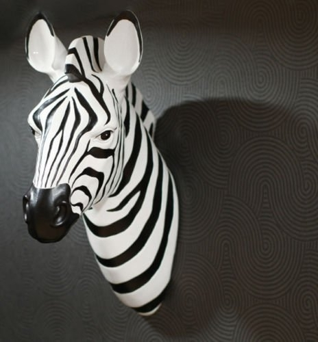Popular Zebra 3D Wall Art For Large Contemporary Black & White Zebra Safari Animal Head 3D Wall (View 11 of 15)