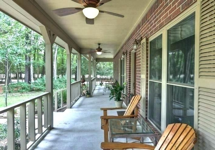 Porch Ceiling Fan Related Post Exterior Ceiling Fans Without Lights Pertaining To Trendy Outdoor Ceiling Fans For Porches (View 6 of 15)