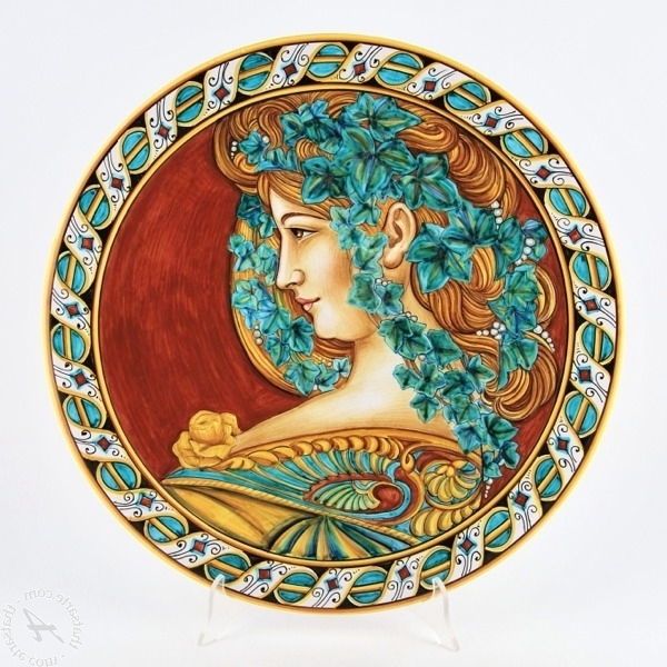 Preferred 13 Italian Ceramic Wall Plates, Hand Painted Wall Plateitalian Pertaining To Italian Ceramic Wall Art (View 12 of 15)