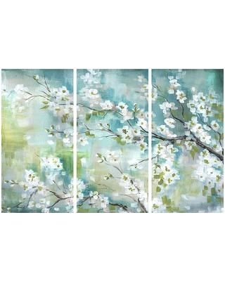 Preferred 3 Piece Canvas Wall Art Sets Regarding 3 Peice Wall Art White Cherry Blossom Branch Three Piece Canvas Wall (View 13 of 15)
