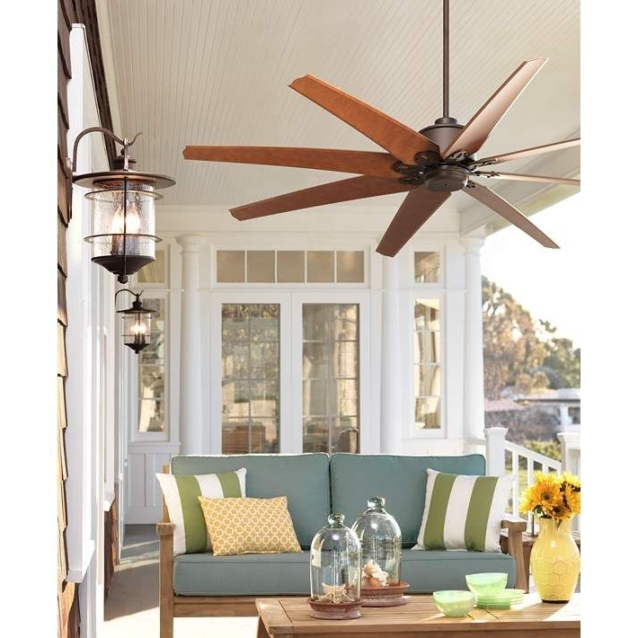 "Preferred 72"" Predator English Bronze Outdoor Ceiling Fan (View 14 of 15)"