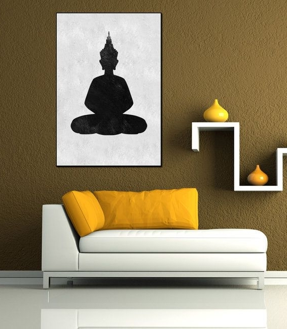 Preferred Abstract Buddha Wall Art In Textured Painting Canvas Art, Hand Painted Buddha Painting, Huge (View 3 of 15)