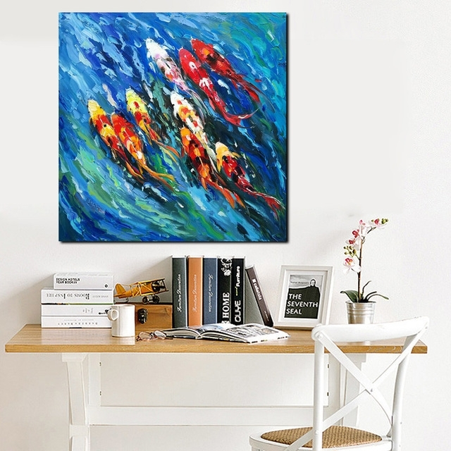 Preferred Abstract Fish Wall Art In Big Size Wall Art Picture Traditional Chinese Abstract Painting (View 13 of 15)
